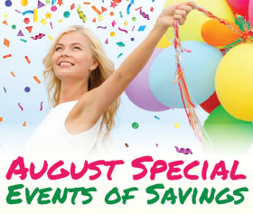 August Abundance of Savings Events