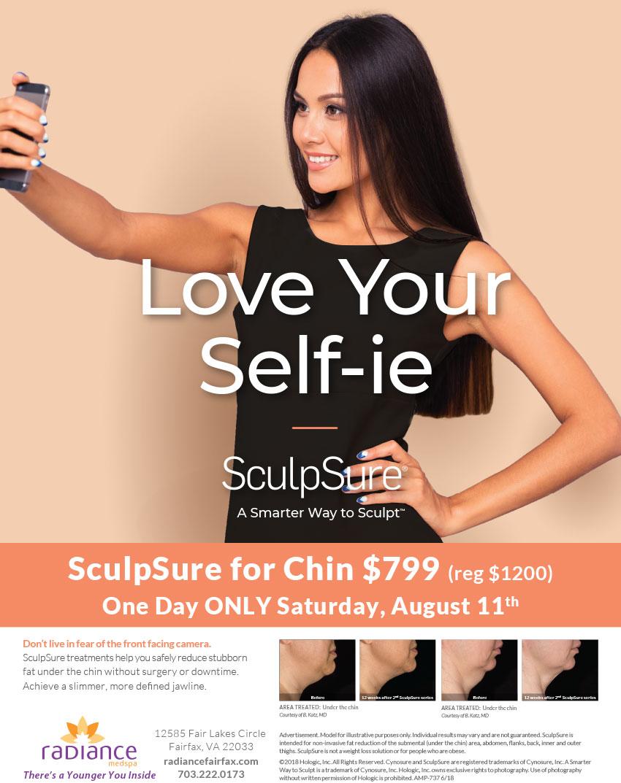 SculpSure chin fat removal discount & event
