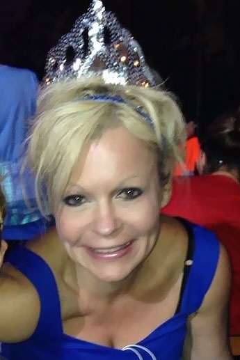 I'm not saying this was all Julie's idea, but she does seek out opportunities to wear a tiara as often as possible.