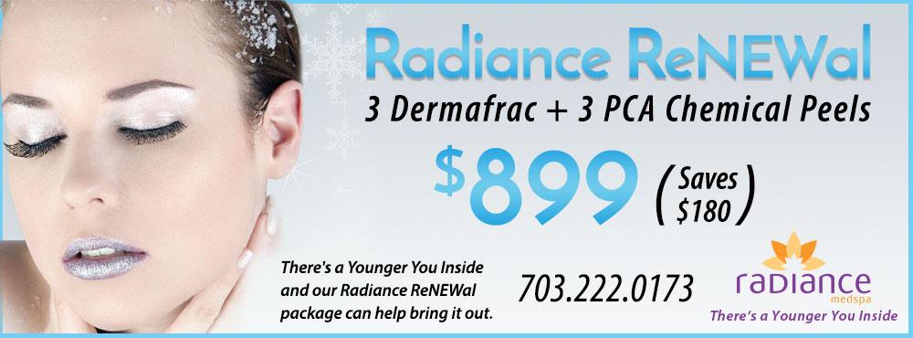 Radiance ReNEWal Dermafrac & Chemical Peel Package Deal